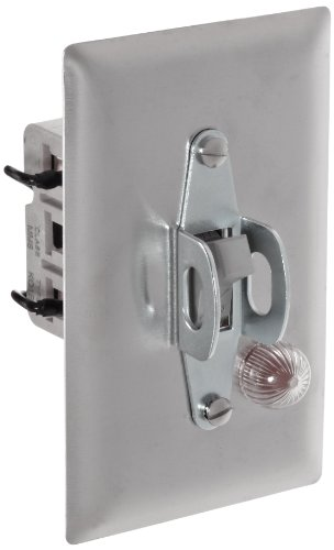 (Siemens MMSKS1B Fractional HP Switch, Single and 3 Phase, Open Switch, Stainless Steel Flush Plate, Toggle Operator Type, Red Pilot Light 230VAC Switch Feature, 2 Poles)
