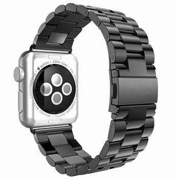 Shengbiao Compatible with Apple Watch Band 42mm 44mm,Stainless Steel Men iWatch Wristband Metal Strap Replacement Link Bracelet for Apple Watch Series 4 3 2 1 (42/44mm Black)
