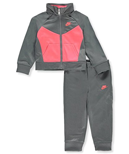 NIKE Girls' 2-Piece Tracksuit - Cool Gray, 24 Months (Track Pant Nike)