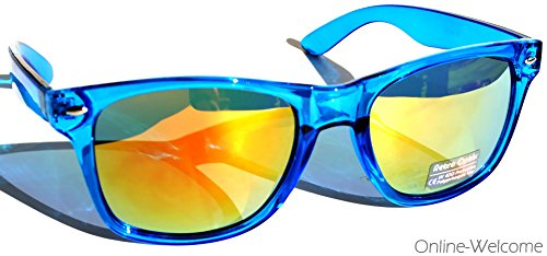 Sunglasses (OnlineWelcome) (Mirror-Blue-Yellow-Lens)