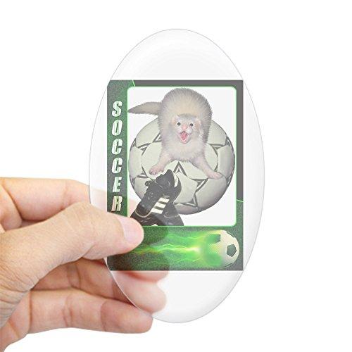CafePress - Soccer Ferret Oval Sticker - Oval Bumper Sticker, Euro Oval Car (Ferret Soccer Ball)