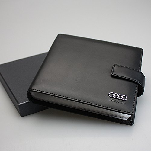 Audi PU Leather CD Case 20 Capacity Car DVD Holder Disc Disk Storage Carry