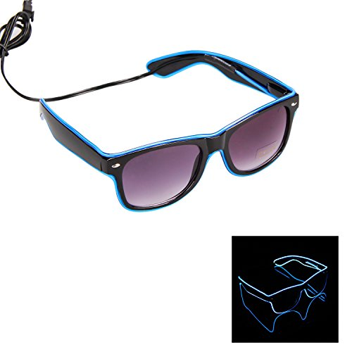 iChase Light Up Party Glasses ,EL Wire Fashion