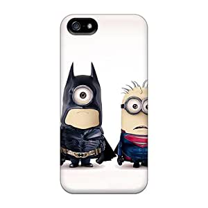 Iphone 5/5s Case Cover Skin : Premium High Quality Batman And Superman Minions Case