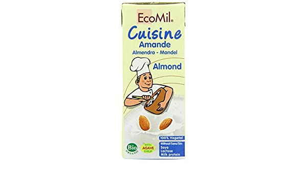 Ecomil | Cuisine - Almond Cream | 18 x 200ml: Amazon.es: Alimentación y bebidas