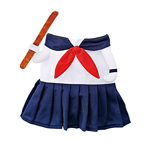 D-ModernPet Dog Costume - Funny Pet Dog Costume High School Uniform Cosplay Apparel Brother Dog Outfit Clothes Jumpsuit Suit for Cat Puppy -