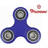 Premsons Fidget Spinner 608 Four Bearing Hand Tri-Spinner Toy - Dark Blue + Black Wing Bearings