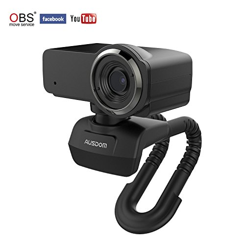 AUSDOM Webcam Streaming 1080p HD USB Web Camera Compatible w