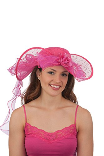 26649 Fuchsia Southern Belle Costume Hat