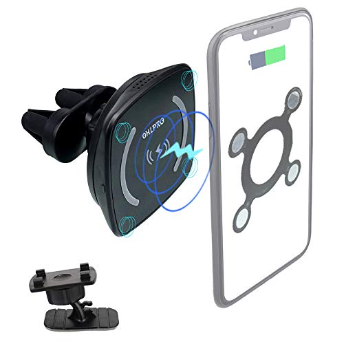 Wireless Car Charger Magnetic Phone Holder,10W Qi Fast Charging Bashboard Dash Air Vent Car Mount Compatible iPhone 11/11 Pro/11 Pro Max/Xs MAX/XS/XR/X/8/8+,Samsung S10/S10+/S9/S9+/S8/S8+
