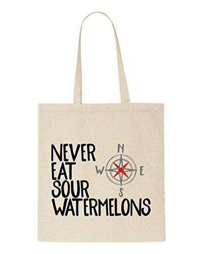 Compass Sour South Bag Tote Eat West East North Watermelons Beige Shopper Statement Never qw0XT56X