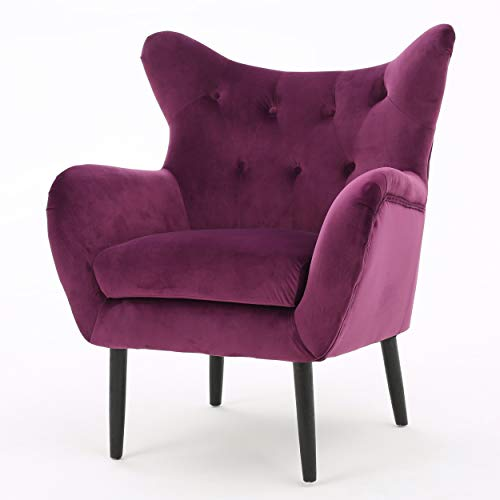 Halifax | Velvet Button-Tufted Arm Chair | Fuchisa for sale  Delivered anywhere in USA