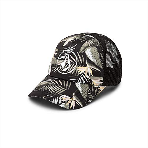 Volcom Junior's Women's Palmy Adjustable Trucker Hat, Army Green Combo, One Size Fits All