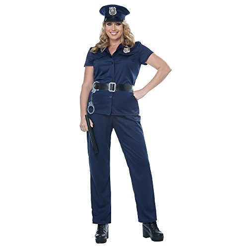 California Costumes Women's Plus-size Police Woman - Adult Plus Costume Adult Costume, -Navy, 3XL]()