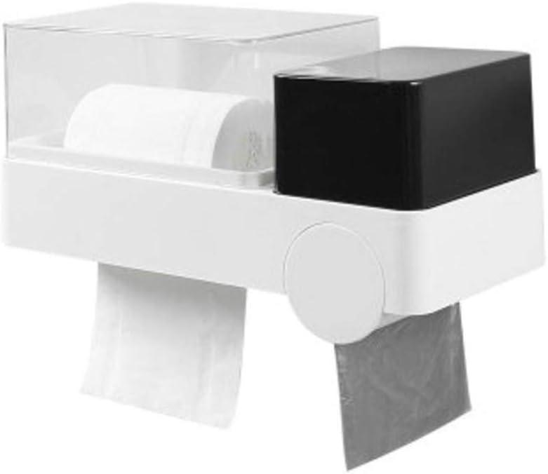 TOPBATHY porta rotolo di carta igienica supporto da parete per bagno impermeabile tampone carta velina sacco per rifiuti rack contenitore 1 pz