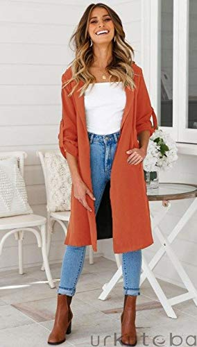 4dbae2d7ed8 Xuba 2018 New Long Trench Coat Cape for Women UNIF Autumn Outfits Women s  Windbreaker Cardigan Overcoat Fashion Women Cloth Outwear  Amazon.in   Clothing   ...