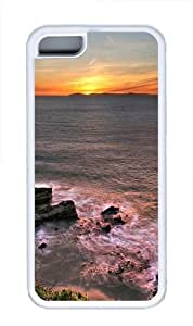 Beautiful ocean sunset TPU Silicone Case Cover for iPhone 5C White
