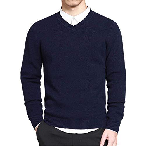 Rouge Blue V Tricoté Bleu Noir Col Style Pull Moderne Homme Simple Navy Casua Hommes Pullover Coton nqOpYYTHZw