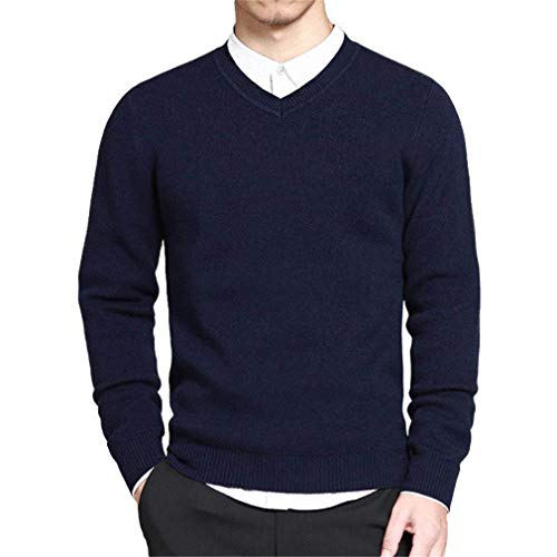 Bleu Blue V Navy Style Casua Tricoté Homme Moderne Col Coton Simple Pullover Rouge Hommes Pull Noir apPwZw