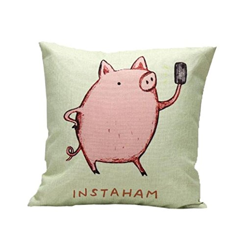 I Am Pink Pig,GBSELL Sofa Bed Home Decor Pillow Case Cushion