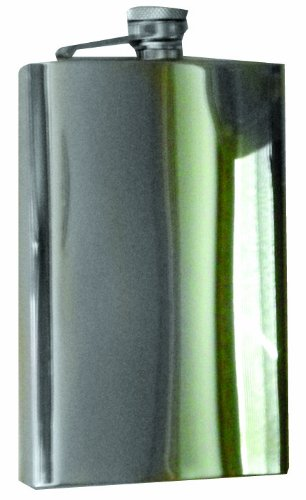 Happy Hour 8-Ounce Stainless Steel Mirror Finish Flask