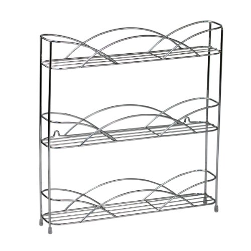 Spectrum Countertop 3-Tier Spice Rack, Chrome