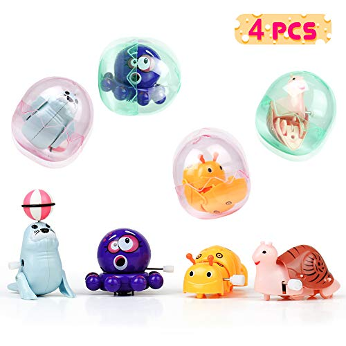Fajiabao Wind Up Toys Flipping Windup Toys Mini Stuffed Animals Egg Party Favor Assorted Goody Bag Filler Gifts for Kids Boys Girls Toddlers Adults, (Random - Toy Stuffed Mini
