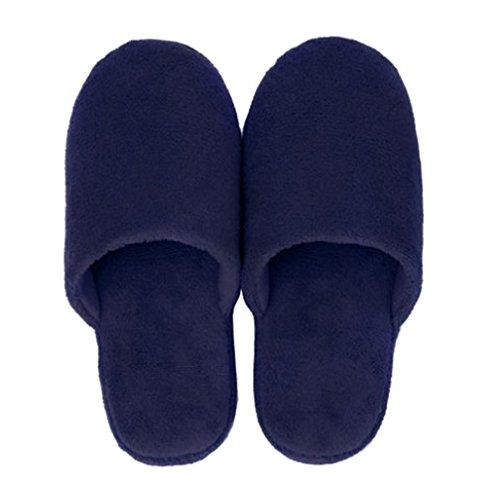Cattior Mens Corallo Velluto Comode Pantofole Da Camera Pantofole Spa Blu