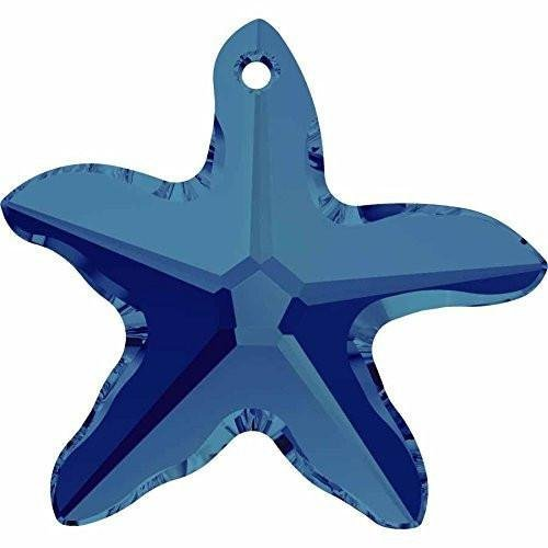 6721 Swarovski Pendant Starfish | Crystal Bermuda Blue | 20mm - Pack of 1 | Small & Wholesale Packs | Free Delivery (Starfish Swarovski 6721 Crystal Pendants)