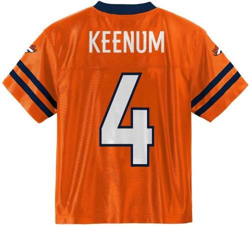 Case Keenum Broncos Orange #4 Youth Home Player Jersey