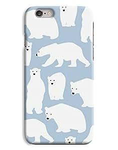 Cartoon Polar Bear Blue White Cute Girls Animal Greenpeace iPhone 6 Plus Hard Case Cover wangjiang maoyi by lolosakes