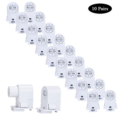 Price comparison product image Brillihood 10 Pairs T8/T10/T12 Recessed Double Contact R17D HO Tombstone Base LED Tube Light Replacement Fluorescent Plunger Lampholder Socket White
