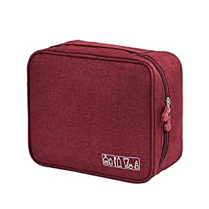 SODIAL Portable Travel Cosmetic Organizer Women'S Toiletry Bag Makeup Storage Bag Zipper Pouch Home Luggage Accessories Cosmetics Bag Supplies