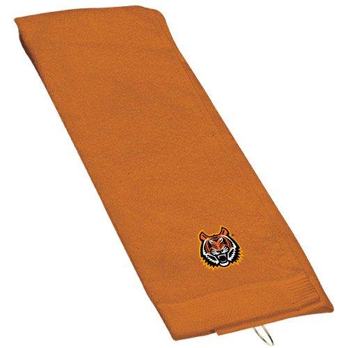 2 Ply Velour Terry (Idaho State Orange Golf Towel 'Bengal Head')