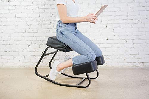 Sleekform Kneeling Chair Rocking   Ergonomic Kneel Chair & Orthopedic Balance Posture Stool for Bad Backs