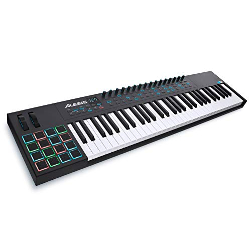 Alesis VI61 | 61-Key USB MIDI Keyboard Controller with 16 Pads, 16 Assignable Knobs, 48 Buttons and 5-Pin MIDI Out, Plus a Professional Software Suite with ProTools | First Included