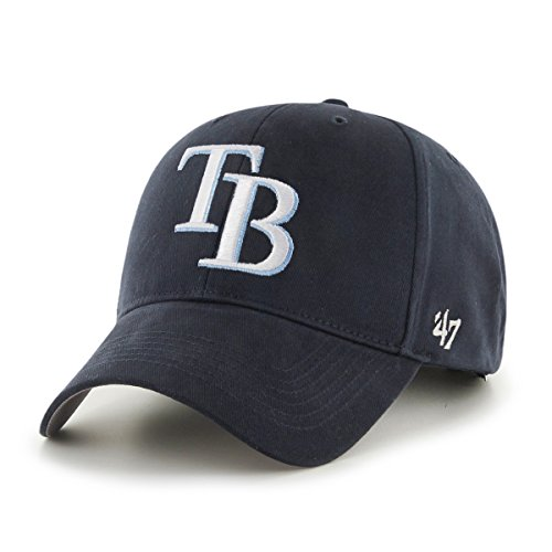 MLB Tampa Bay Rays Basic MVP Adjustable Hat, (Tampa Bay Rays Key)