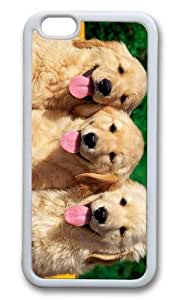 MOKSHOP Personalized Golden Retriever Puppies Soft Case Protective Shell Cell Phone Cover For Apple Iphone 6 (4.7 Inch) - TPU White wangjiang maoyi