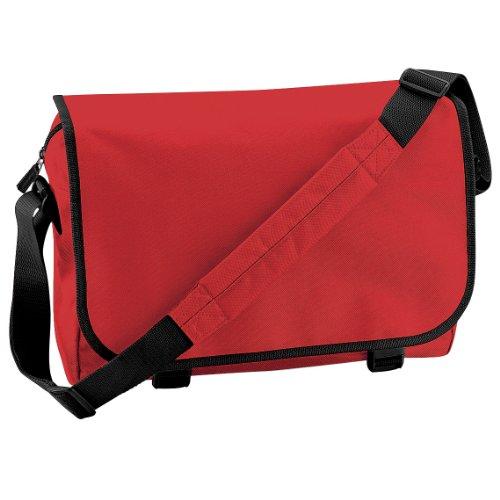 Bagbase Adjustable Messenger Bag (11 Liters) (One Size) (Bright (Red Womens Messenger Bag)