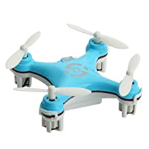 Annymall Cheerson CX-10 29mm 4 Channel 2.4GHz Radio Control RC Mini Quadcopter Helicopter Drone 6-Axis Gyro UFO with LED Flash Light with Transmitter (Blue)