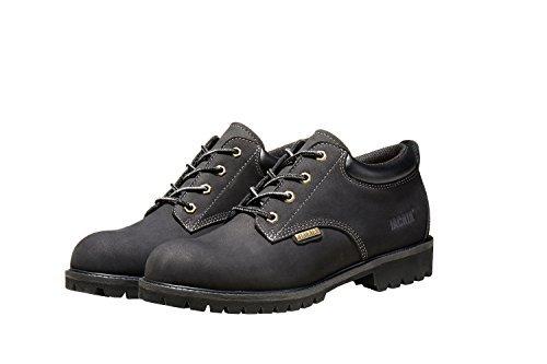 Jacata Men's Low-Cut Work Boots Water Resistant Boots Heavy Duty Natural Rubber Blend Soles (12, Black)