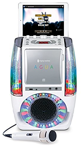 Bundle Includes 2 Items - Singing Machine SML605W Agua Dancing Water Fountain Karaoke System with LED Disco Lights & Microphone, White and Singing Machine SMM-205 Unidirectional Dynamic Microphone by Singing Machine and Singing Machine (Image #6)