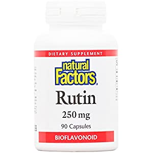 Natural Factors Rutin 250mg, A Citrus Bioflavinoid, 90 Capsules
