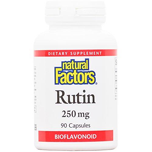 Natural Factors – Rutin 250mg, A Citrus Bioflavinoid, 90 Capsules For Sale