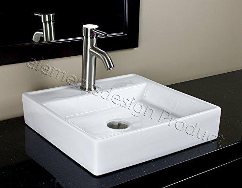 Bathroom Ceramic Porcelain Vessel Sink 7657N5 Brushed Nickel faucet and Drain
