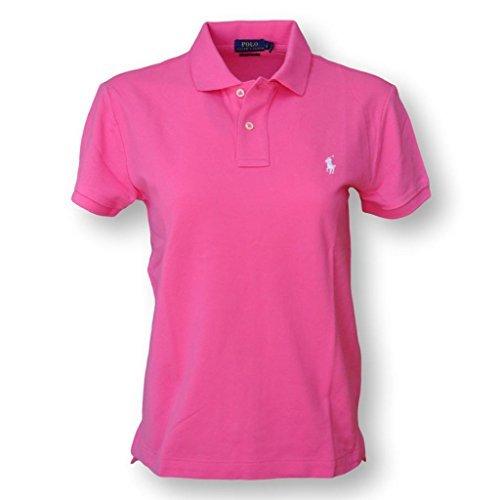 Polo Ralph Lauren Women's Classic Fit Mesh Polo Shirt, Pink, X-Large