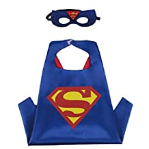 Superhero Cape & MASK Set Kids Childrens Halloween Costume Superman