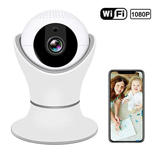 Cámara IP inalámbrica HD 1080P cámara de seguridad inalámbrica casera de 360º con vista panorámica de navegación 3D,...