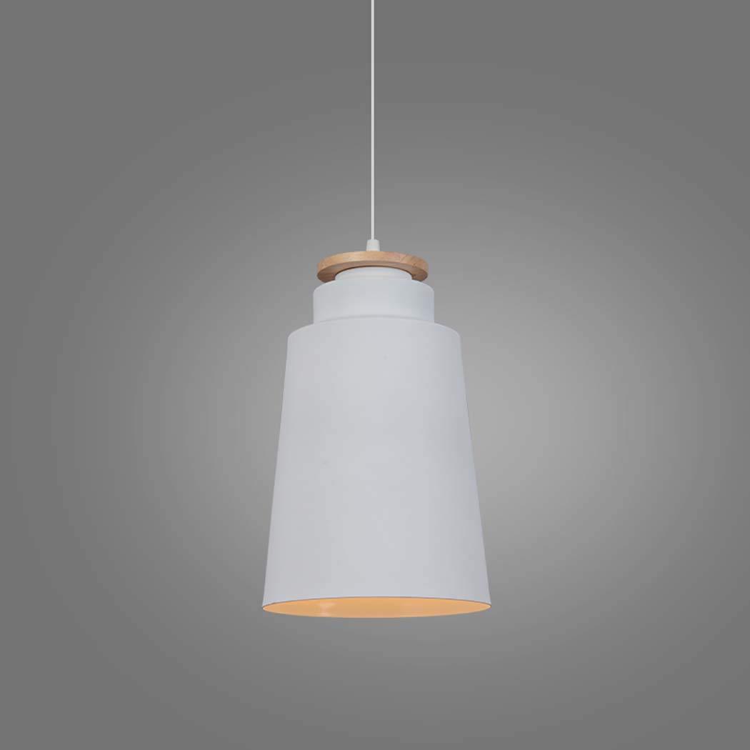 Weiß-ein Massivholz Pendelleuchte, Nordic einfach Multi-Farbe-Single-Kopf-Aluminium-Pendelleuchte, personalisierte kreative Bar Restaurant Kronleuchter (Farbe   Schwarz-C)