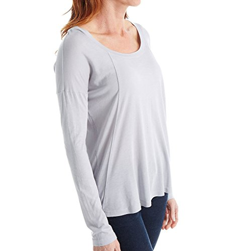Splendid Womens Very Light Jersey Long Sleeve Dove Grey